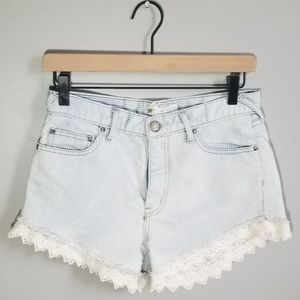 Free People Dolphin Hem Cutoff High Waist Short 26